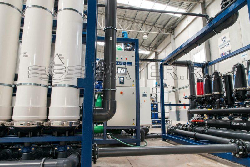 Система ультрафильтрации в комплексе водоподготовки